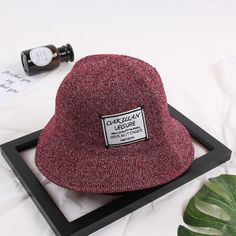 1 Pcs New Ins Style English Mark Bucket Hats Autumn Winter Woolen Yarn Mark Brand Bucket For Women Fashion Caps 5 Colors  #other #Bucket_Hats #women_clothing #stylish_Bucket_Hats #style #fashion