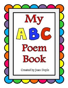 The children will have so much fun learning their alphabet while reading the funny poems for each letter and illustrating their own book. This acti. Alphabet Poem, Teaching The Alphabet, Teaching Reading, Fun Learning, Teaching Ideas, Alphabet Activities, Literacy Activities, Preschool Poems, Preschool Alphabet