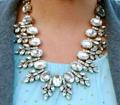Lucy Crystal Necklace// stylelately.com