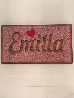 Child's name string art