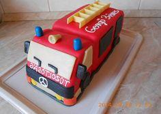 Tűzoltó autó torta recept + összeállítás | zuborandi receptje - Cookpad receptek Curious George Party, Fireman Party, New Cake, Party Cakes, Birthday Cake, Birthday Ideas, Projects To Try, Julien, 3 Years