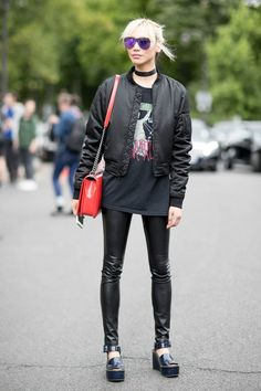 83363b8165d Models at Couture Fall 2016 - Street Fashion Spring Street Style