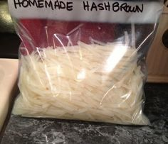 Once it's frozen put them in a freezer bag. Make sure to mark and date the bag. They are ready to use as you would a store bought kind.