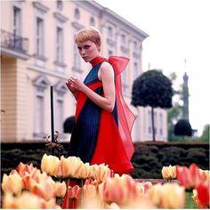Una modelo en Londres, década de 1960.
