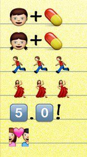 Silver Linings Playbook, as told by emoji.