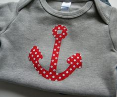 Nautical Baby Boy Clothes // Anchor // Size 1218 by veryKIKI, $13.00