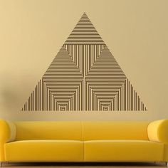 Triangle Vinyl Sticker Abstract Lines Wall Decal by DecalHouse