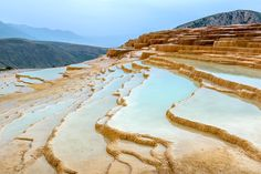 Picture of the travertine terrace in Badab-e Surt, Iran