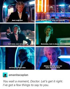 """You wait a moment, Doctor. I've got a few things to s… ""You wait a moment, Doctor. I've got a few things to say to you. All Doctor Who, Rose And The Doctor, Doctor Who Funny, Doctor Who Tumblr, Twelfth Doctor, 12th Doctor, Doctor Who Christmas, Last Child, Tv Doctors"