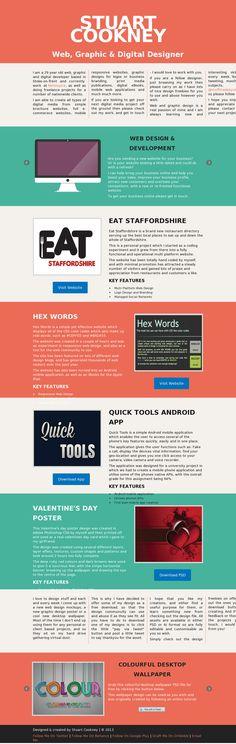 Flat, minimal web design.