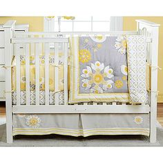 Nursery bedding grey and yellow...love this color combination