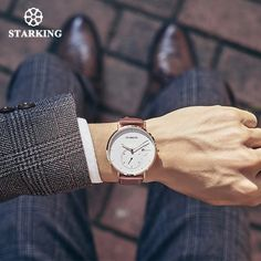 A classic business watch by STARKING. The TM0917 is part of the STARKING Men's Fashion Collection, designed to have an elegant and simple eye-catching design with a slim profile. It is only 9mm thick with a full stainless steel construction of the watch alloy and Milanese loop strap. High quality cowhide leather is used for the genuine leather strap. This watch has a distinct date calendar with a separate dial for the seconds. Available in 4 different colours. New Mens Fashion, Men's Fashion, Cool Gadgets, Cowhide Leather, Watches For Men, Quartz, Stainless Steel, Restorative Yoga, Clothing Ideas