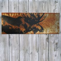 Hey, I found this really awesome Etsy listing at https://www.etsy.com/listing/119155087/moose-on-rusted-metal