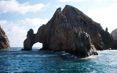 Los Cabos famous Arch in a summer