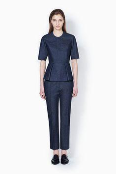 3.1 Phillip Lim Peplum Short Sleeve Top
