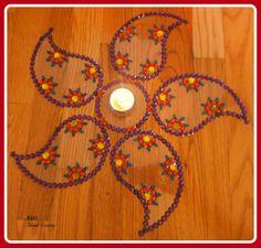 Rangoli / Wedding Centerpiece / Diwali Decoration/ Indian Art on Etsy, $25.00