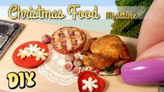 Miniature Christmas Goodies // DIY Dolls/Dollhouse Food