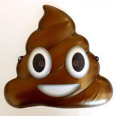 Poo Pile Poop Face Emoji Mask - Kids Adults No. Funny Photo Booth, Photo Booth Props, Emoji Mask, Fancy Dress Masks, Emoticon Faces, Unique Costumes, 3d Face, Mask Party, Party Accessories