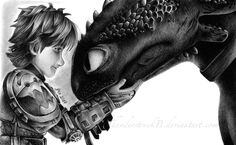"""You never cease to amaze me, bud"" by ThunderstruckB ... How to train your dragon, toothless, hiccup, night fury, dragon, viking"
