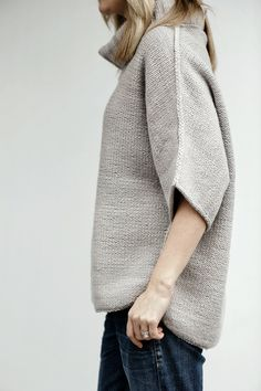 Beaubourg from Manos Del Uruguay: Turn your sweater inside out with this beautiful reverse stockinette pullover from Julie Hoover. Oversized and cozy, chic and comfortable, the Beauborg is this season's classic! Finished Chest measurements: 35-37 (38-40, 41-43, 44-46, 47-49) inches. You will need 1300 (1500, 1500, 1500, 1500) yards of worsted weight yarn, and US #9 (5.5 mm) 24 and 32-inch circular needles.  Shown in Manos Maxima, color Foil.   $5.15