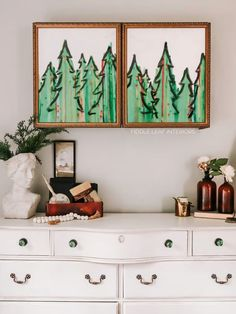 Easy Christmas Tree Art - Fiddle Leaf Interiors