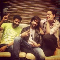 Shahid Kapoor with Sonakshi Sinha and Prabu deva