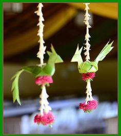 Beautiful Birds with flowers by Katha Weddings, Bangalore. Wedding Hall Decorations, Diy Diwali Decorations, Desi Wedding Decor, Marriage Decoration, Backdrop Decorations, Festival Decorations, Flower Decorations, Wedding Mandap, Wedding Receptions