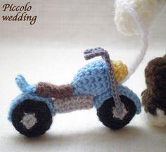 moto e bici crochet - Cerca con Google