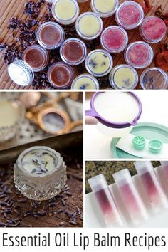 A luscious collection of Natural DIY Essential Oil Lip Balm Recipes, ideal for treating dry winter lips! ♡ purasentials.com ♡ essential oils with love