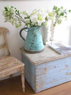 Pastels and Whites, would make nice beach decor