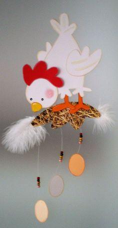 Windspiel Vogel Hase Fisch Terrasse hängend fenster dekoration balkon drinnen