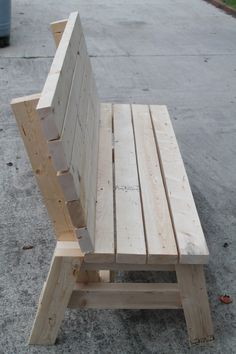 54 Trendy diy wood bench with back projects 2x4 Bench, Diy Wood Bench, Outdoor Wood Bench, Wood Bench Plans, Desk Plans, Pallet Patio Furniture, Diy Furniture Plans, White Furniture, Woodworking Projects Diy