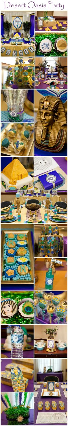 Desert Oasis Party. You may want your Halloween party to be a bit spookier, but this Egyptian party does have ideas that stand the test of time. Halloween & The Secret of the Mummy's Tomb Party decorating ideas.