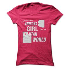 #Funnytshirts... Cool T-shirts  Price: $22.00Purchase Now  Low cost Codes View pictures & photographs of Arizona Girl in Utah t-shirts & hoodies:Should you don't completely love our design, you possibly can SEARCH your favourite one through the use of searc... Check more at http://vpstshirt.net/funny/best-selling-t-shirts-arizona-girl-in-utah-from-xads-tshirt/