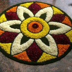 What are Top Flower Rangoli Designs Images 2019 ? - - What are Top Flower Rangoli Designs Images 2019 ? Rangoli is a popular Indian traditional art form that uses. Easy Rangoli Patterns, Easy Rangoli Designs Diwali, Rangoli Simple, Simple Rangoli Designs Images, Rangoli Designs Latest, Rangoli Colours, Latest Rangoli, Colorful Rangoli Designs, Rangoli Ideas