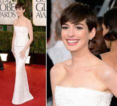 GOLDEN GLOBES 2015 - Anne Hathaway - Vestido Chanel