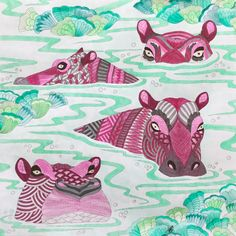 My Colouring Millie Marotta Wild Savannah Hippopotamus
