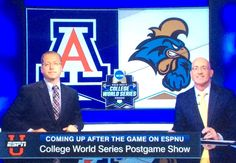 CCU vs. Univ of Arizona in the College World Series in Omaha:  Monday 27, 2016 ---LET THE GAMES BEGIN!