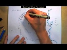 Fantasy Map Drawing - YouTube  For twins map project.