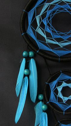 Azul el cazador de sueños sueño catcher atrapasueños regalo