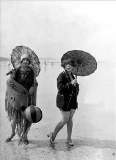 "Baigneuses, 1925.   (Or ""Stephanie and Susan, glamming on the beach"" lol)"