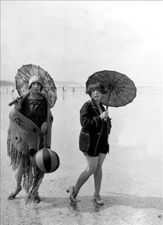 "Baigneuses, 1925.   (Or ""Stephanie and Susan, glamming on the beach"" lol)"