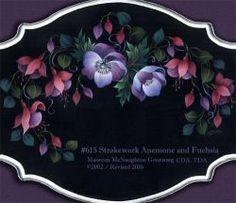 615 Strokework Anemone & Fuchsia