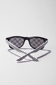 Checkerboard Wayfarers: Classic Wayfarers with printed checkerboard lenses! $14