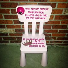 Toddler Timeout Chair Sugar and Spice and Everything Nice