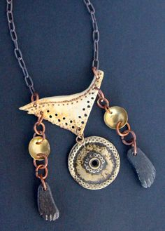 Barefoot Traveler Turtle Bone Necklace Pyrography by CatchingWaves