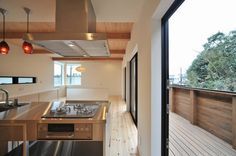 Super cool kitchen. LDK by 若山建築設計事務所