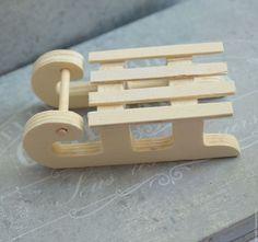 Мини-санки деревянные 99-45690