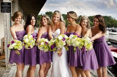 Elegant Purple Bridesmaid Dresses