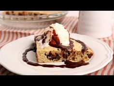 Cookie Cake Recipe - Laura in the Kitchen - Internet Cooking Show Starring Laura Vitale Cookie Desserts, Cookie Recipes, Dessert Recipes, Cookie Pie, Bar Recipes, Brownie Recipes, Chocolate Chip Cookies, Chocolate Desserts, Laura In The Kitchen Recipe